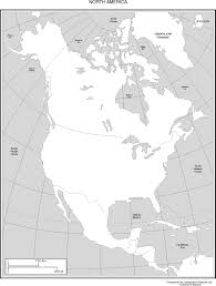 Physical Map Of North America by Map Of North America Black Line Master