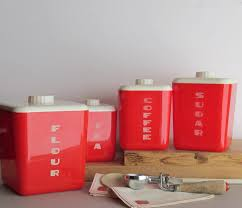red canisters kitchen decor vintage kitchen canisters sets s s vintage metal canister sets