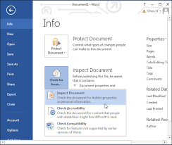 how to remove the hidden personal information microsoft office
