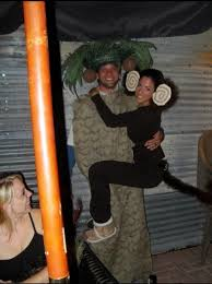 best costumes for couples monkey and palm tree costume
