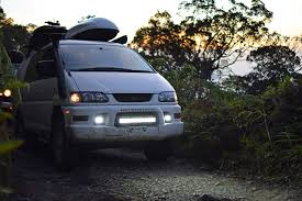 mitsubishi delica 4x4 getting muddy around minca of mountains u0026 beaches