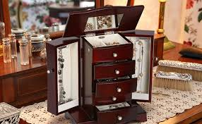 Where To Buy A Jewelry Armoire Amazon Com Mele U0026 Co Bette Wooden Jewelry Box Mahogany Finish