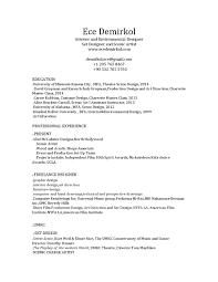 Freelance Artist Resume Ece Demirkol Set Designer And Scenic Artist Resume By Ece Demirkol