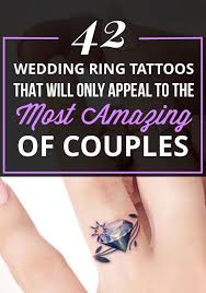 best 25 couples ring tattoos ideas on in