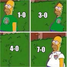 Usa Soccer Memes - when mexico received 7 goals in a match homer backs into things