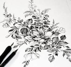 Flower Designs For Drawing Flower Drawing Flores Y Plantas Pinterest Flower Tattoo And