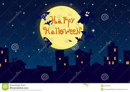 cartoon halloween background cartoon illustration happy halloween city on stock vector image
