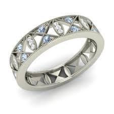 wedding rings with images Aquamarine wedding ring aquamarine wedding band diamondere jpg