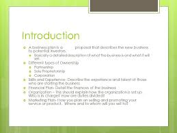 business plan introduction ppt download