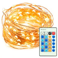 33ft 100 led string lights dimmable with remote control