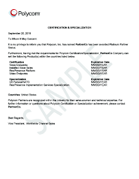 Certification Letter For Name Change Why You Should Purchase From Authorized Polycom Partners
