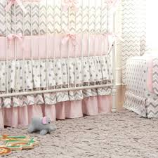 Swinging Crib Bedding Grey And White Chevron Bedding Modern Stripes With Aqua Accents