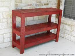 Diy Console Table Plans Pallet Console Table Plans Pallet Wood Projects