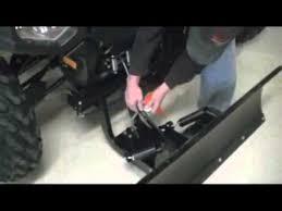 how to install plow on polaris atv youtube