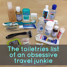 travel toiletries images The toiletries list of an obsessive travel junkie snarky nomad png