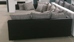 couch mit hocker claudia xxl mit hocker schwarz graubeige