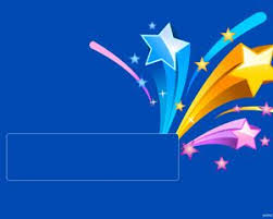 The Free Ppt File Has A Blue Background And Colored Stars On Top Powerpoint Theme