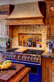 best mediterranean kitchen backsplash ideas pinterest rustic wood kitchen cabinets with beautiful grain are paired dark brown countertops and earth