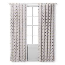 Grey And White Polka Dot Curtains Light Blocking Curtain Panel Dots Cloud Island Gold Target