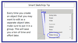 how to use groups and components in sketchup to create a fence