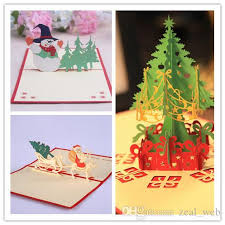 cheap christmas cards dhl sf express 3d christmas cards pop up greeting cards