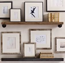 Wooden Gallery Shelf by