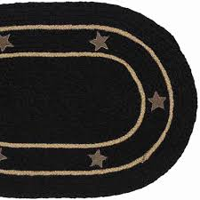 burlap star black braided jute rug oval 27 x 48 in allysons place