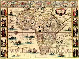 Egypt Africa Map by Decorative Map Of Africa Created In The 1660 U0027s Relief Shown