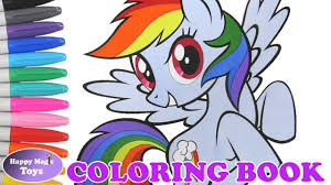 mlp rainbow dash coloring book my little pony mane 6 dashie