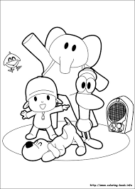 pocoyo coloring pages printable 47 colores images