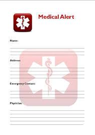 medical alert wallet card template 2 best u0026 professional templates