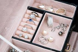 box rings images Jewelry box with white gold and silver rings earrings and jpg