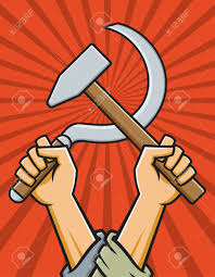 Russian Flag With Hammer And Sickle Hammer And Sickle Vector Illustration In The Style Of Russian