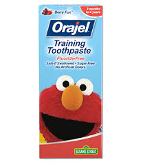 elmo training toothpaste kids orajel