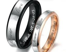 promise ring sets his and promise rings etsy