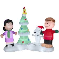 musical brown christmas tree peanuts 86975 6 5ft lighted musical peanuts christmas airblown