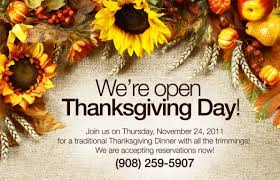 restaurants that are open on thanksgiving day restaurants