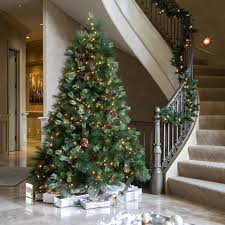 Downswept Slim Christmas Tree by 7 5 Ft White Pine Pre Lit Christmas Tree Hayneedle