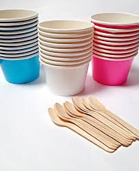 Candy Cups Wholesale 25 Ice Cream Cups Small Fruit Bowl 4 Oz Paper Ice Cream