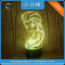 decorative frozen queen 3d sleep night lamp for bedroom buy 3d