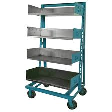 Blue Bookcases Industrial Blue And Steel Factory Storage A Frame Rack As Shelving