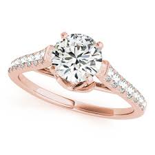 Rose Gold Wedding Rings For Women by Rose Gold Engagement Rings Diamonds U0026 Cubic Zirconia Cz