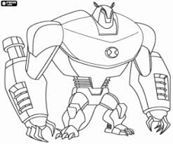 side ben 10 coloring pages printable ben 10 coloring