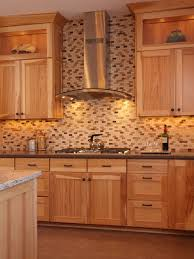what paint color goes best with hickory cabinets hickory cabinets two different color color counter tops