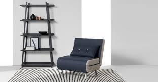 Single Sofa Bed Chair Haru Single Sofa Bed Quartz Blue Made Com