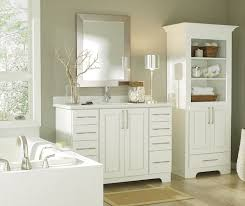 White Bathroom Storage Cabinet Casual White Bathroom Cabinets Cabinetry