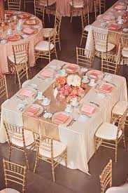wedding reception table runners romantic summer wedding at the art gallery of alberta gold table