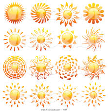 royalty free stock vector designs of sun icons