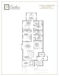 two bedroom floorplans approximately 2 000 sf enclave at
