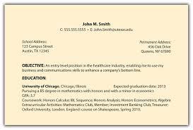 objective sample for resume basic resume objective best business
